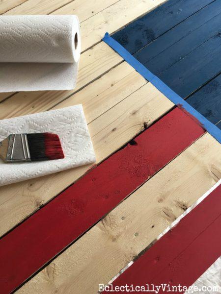 DIY wood flag tutorial kellyelko.com