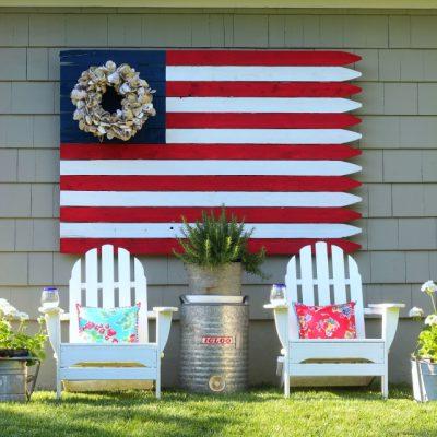 diy flag, wood flag, fence flag, coastal flag