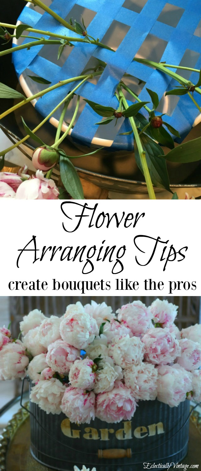 Flower Arranging Tips - simple ideas to have you creative bouquets like the pros! kellyelko.com
