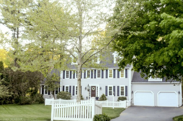 Classic gray colonial - great curb appeal kellyelko.com