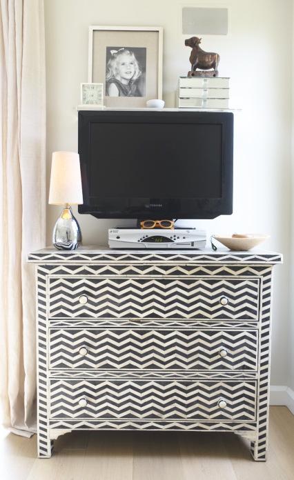 Black and white chevron dresser kellyelko.com