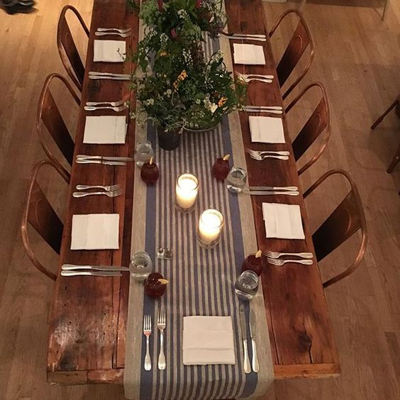 Copper Top Dining Room Tables Slate Farmhouse Kitchen: Rustic Wood Dining Table