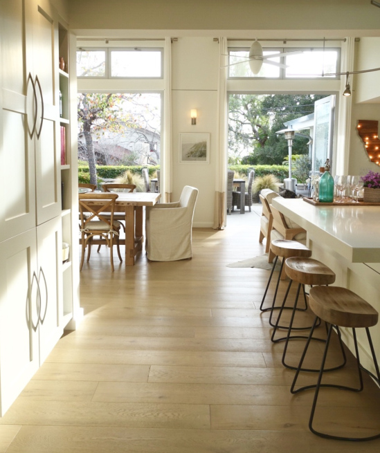 Love the French doors leading to the patio - such a beautiful open floor plan kellyelko.com