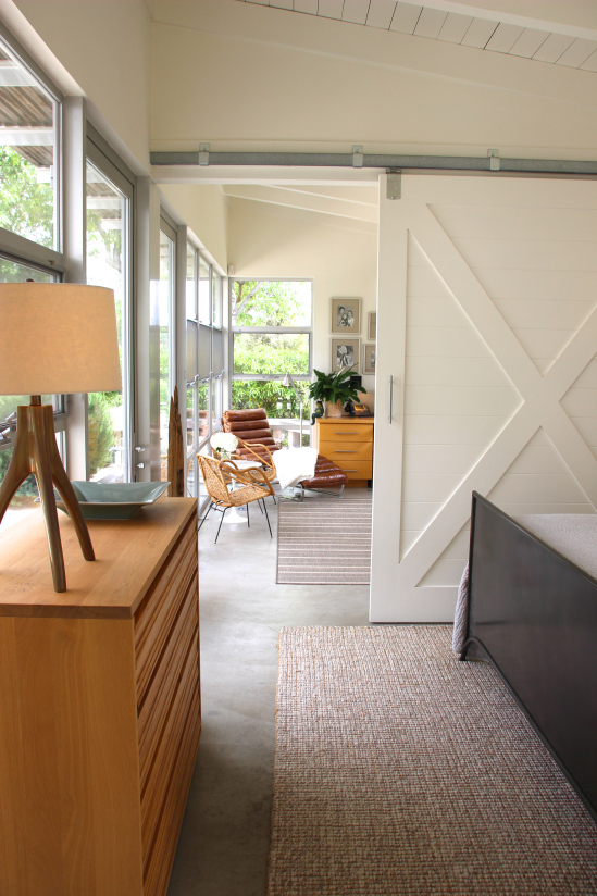 Sliding barn doors in the bedroom kellyelko.com