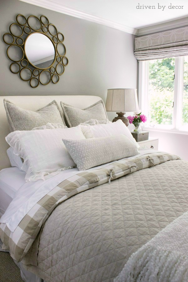 Guest bedroom in neutrals kellyelko.com