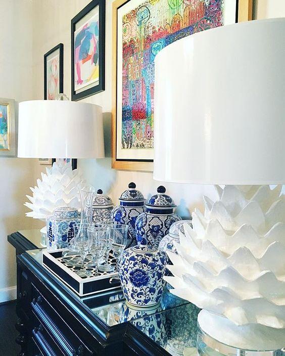 Artichoke paper mache lamps - love these! kellyelko.com