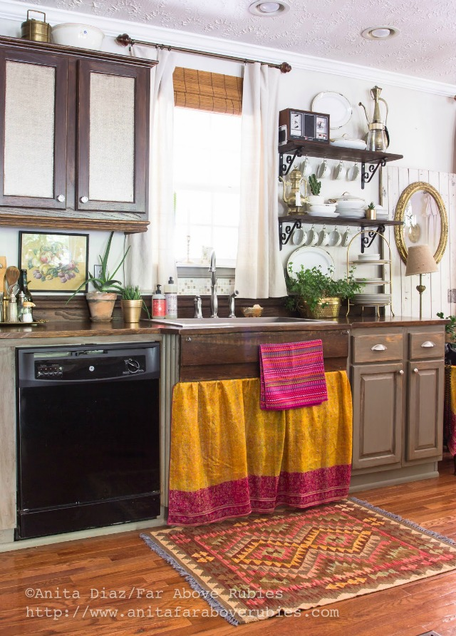 Love this kitchen and the 150 year old antique wood countertops kellyelko.com