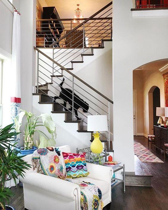 Modern staircase bannister kellyelko.com