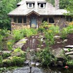 stone house, cottage, curb appeal