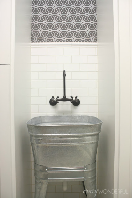Galvanized tub sink kellyelko.com