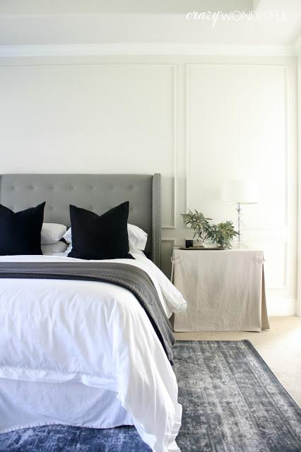 Blue and gray master bedroom kellyelko.com