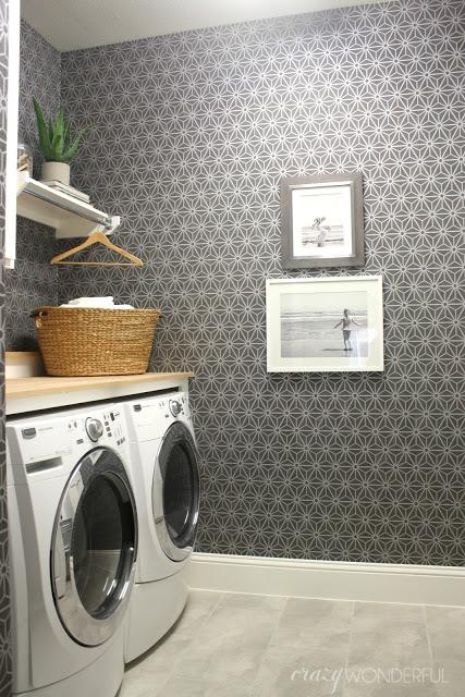 Gray laundry room kellyelko.com