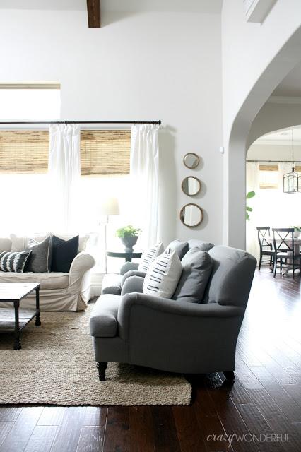 Gray neutral family room kellyelko.com
