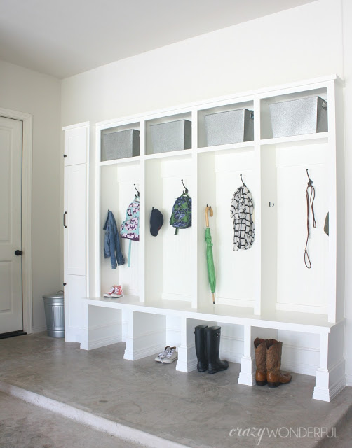 Garage mudroom cubbies kellyelko.com