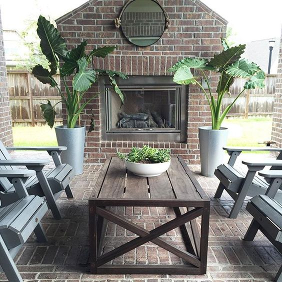 Tour this beautiful home with backyard patio oasis and outdoor fireplace kellyelko.com