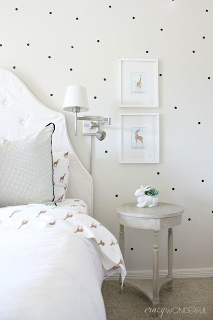 Polka dots are fun in a kids bedroom kellyelko.com