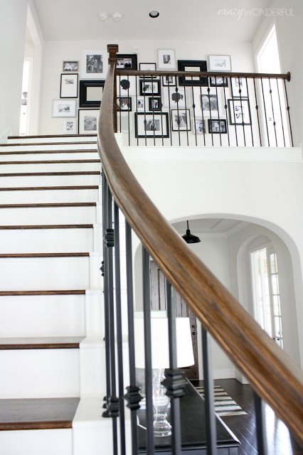 Staircase gallery wall kellyelko.com