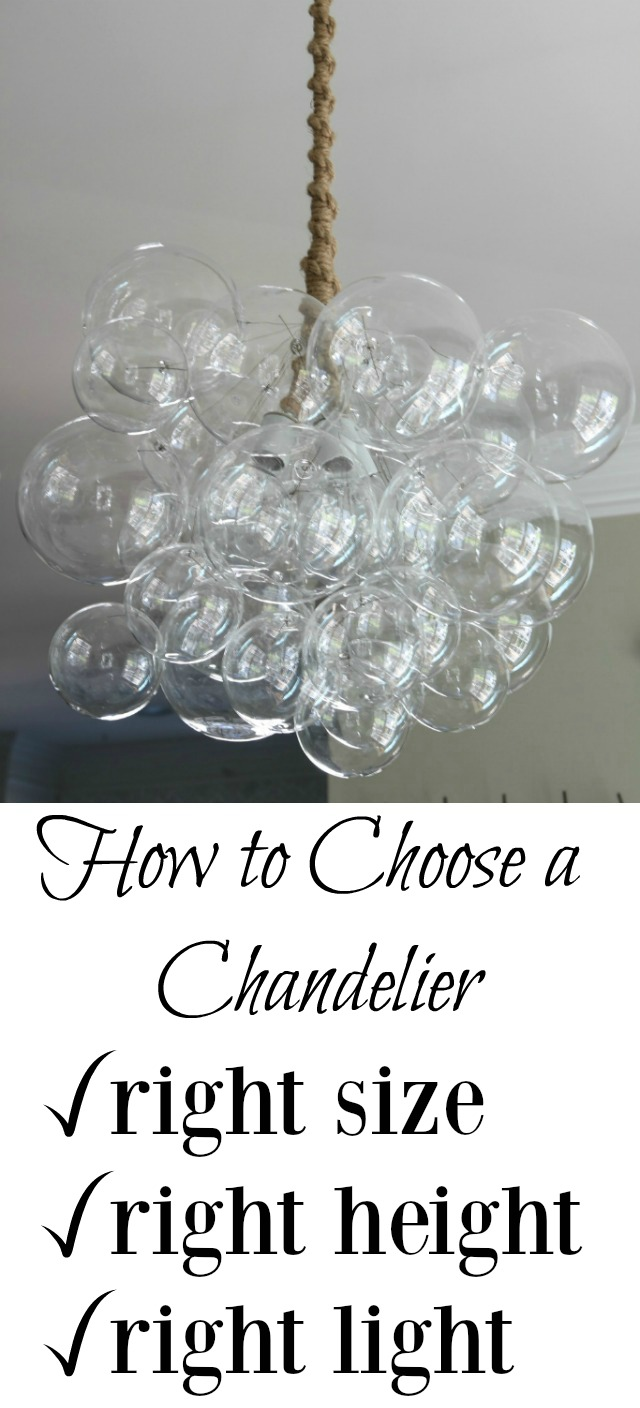 Chandelier Buying Tips - learn the right size to buy, height to hang an necessary wattage kellyelko.com #lighting #tipsandtricks #interiordesign