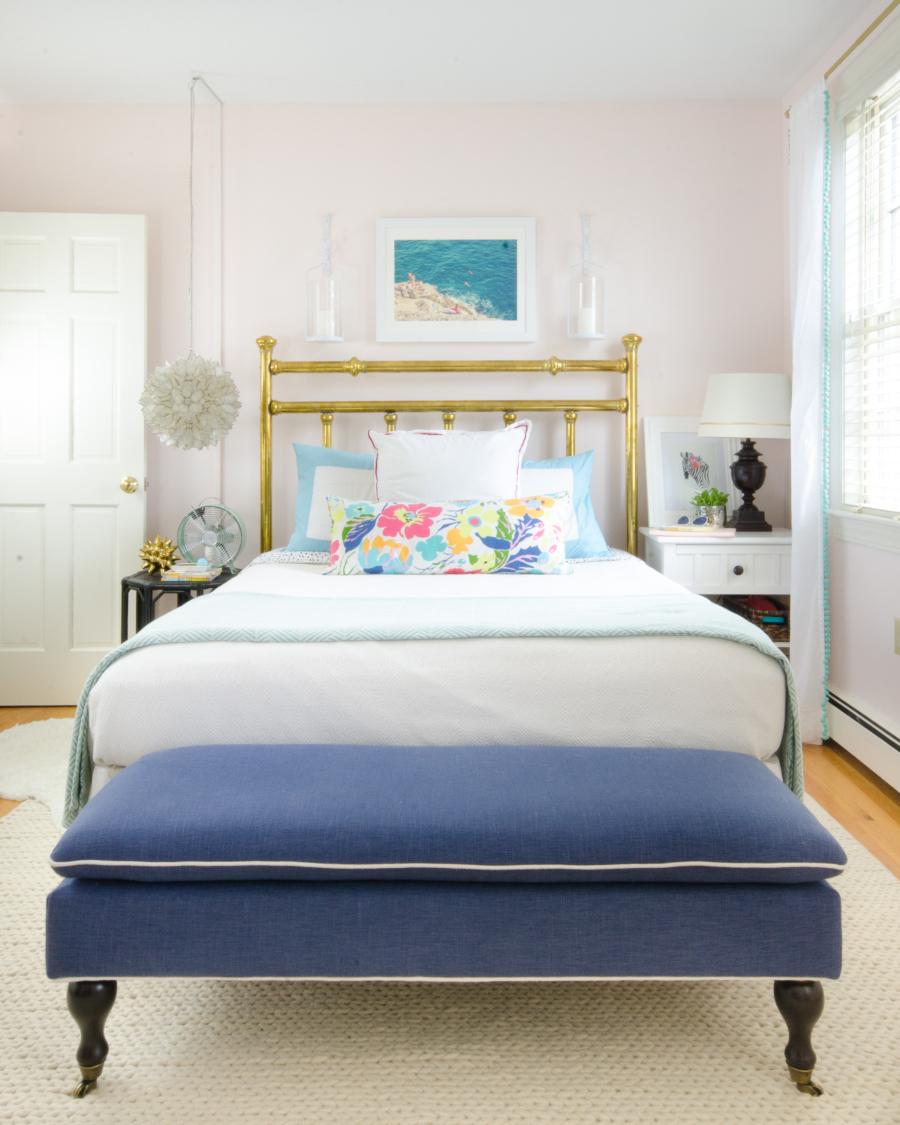 Antique brass bed girls bedroom