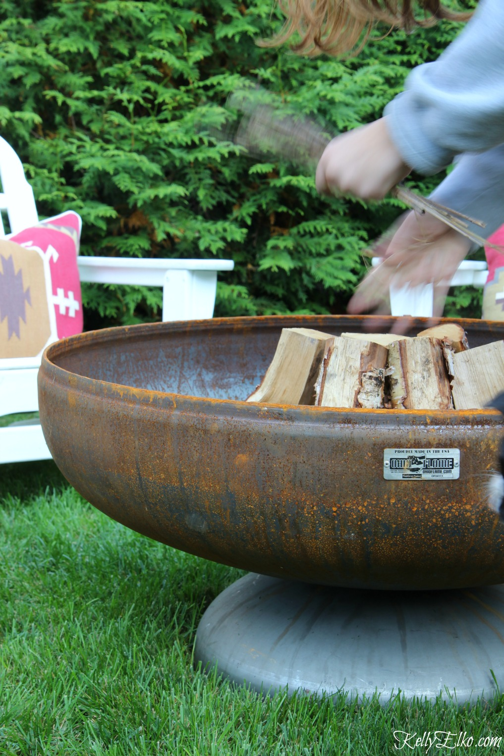Ohio Flame Fire Pit - I love how it ages into a beautiful patina and won't rot kellyelko.com