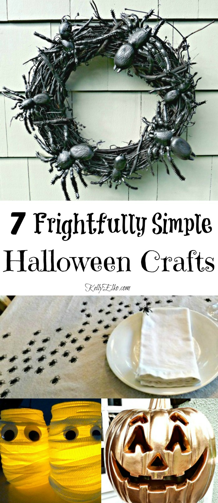 Simple Halloween Craft Ideas - these are so creative! kellyelko.com