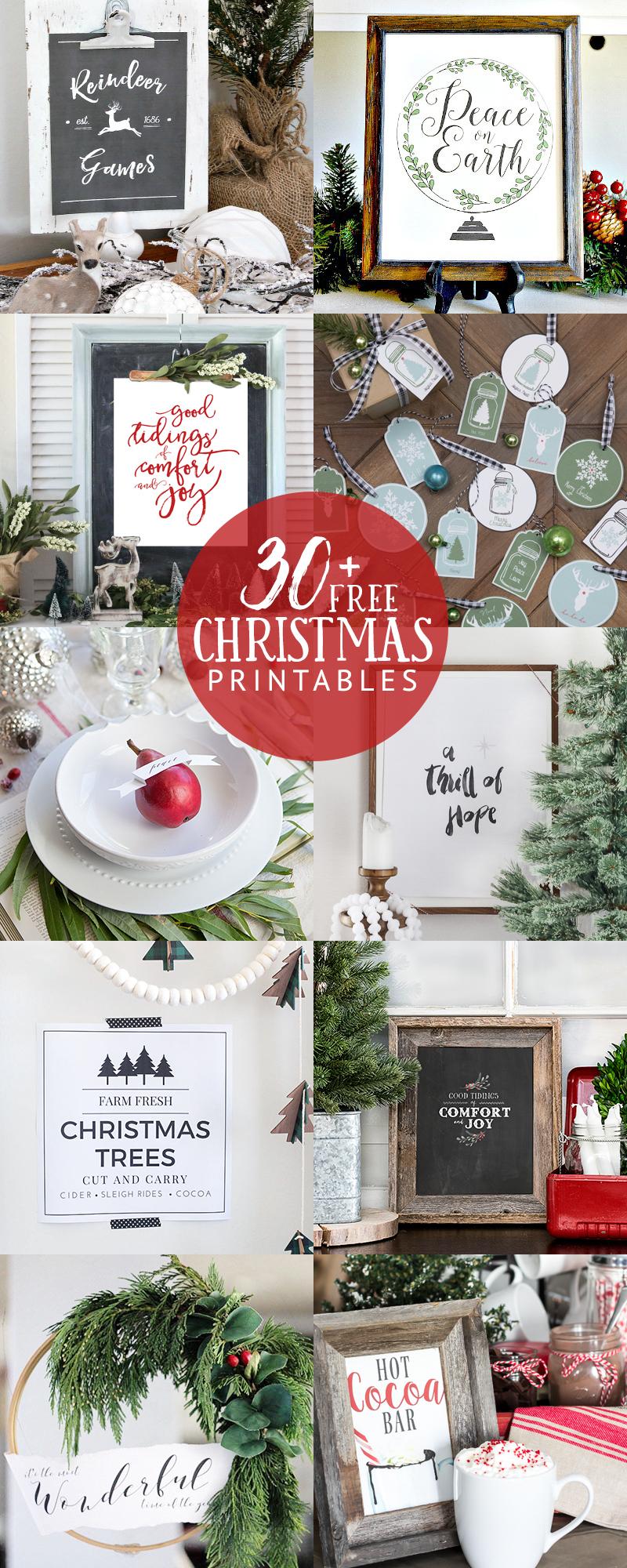 Creative Free Christmas Printables kellyelko.com