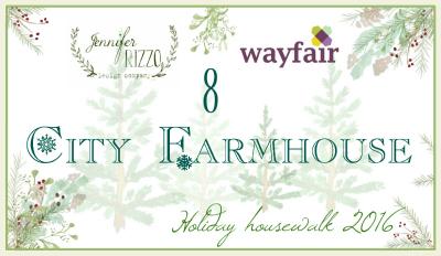 City Farmhouse Christmas Home Tour kellyelko.com