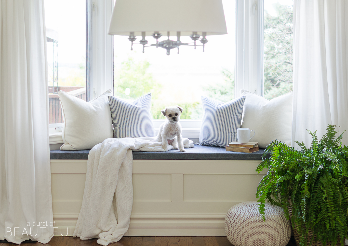 DIY Window seat with the plans to build your own!