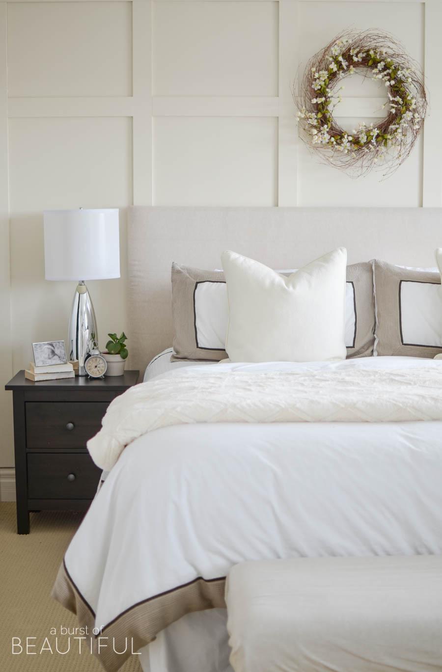 Bedroom board and batten wall