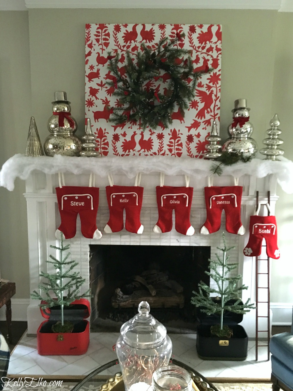 Design Christmas Mantel my christmas mantel fails kelly elko progress see her in photos and the final gorgeous end result