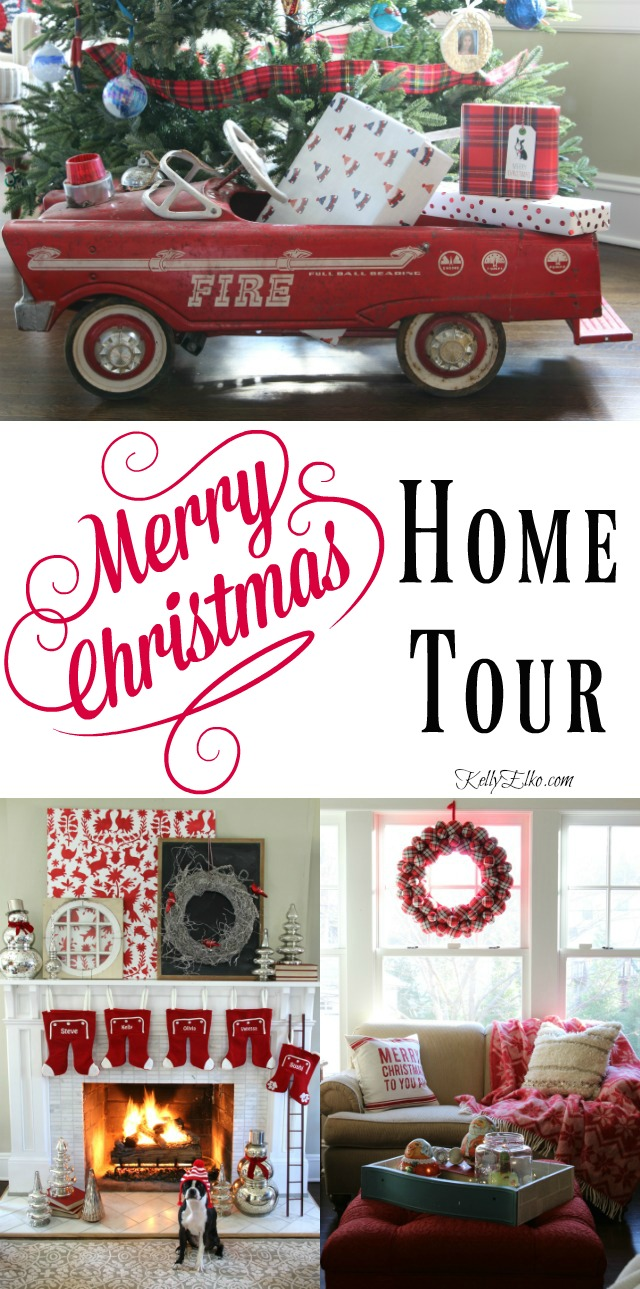 Merry & Cozy Christmas Home - so many creative decorating ideas! Tour kellyelko.com