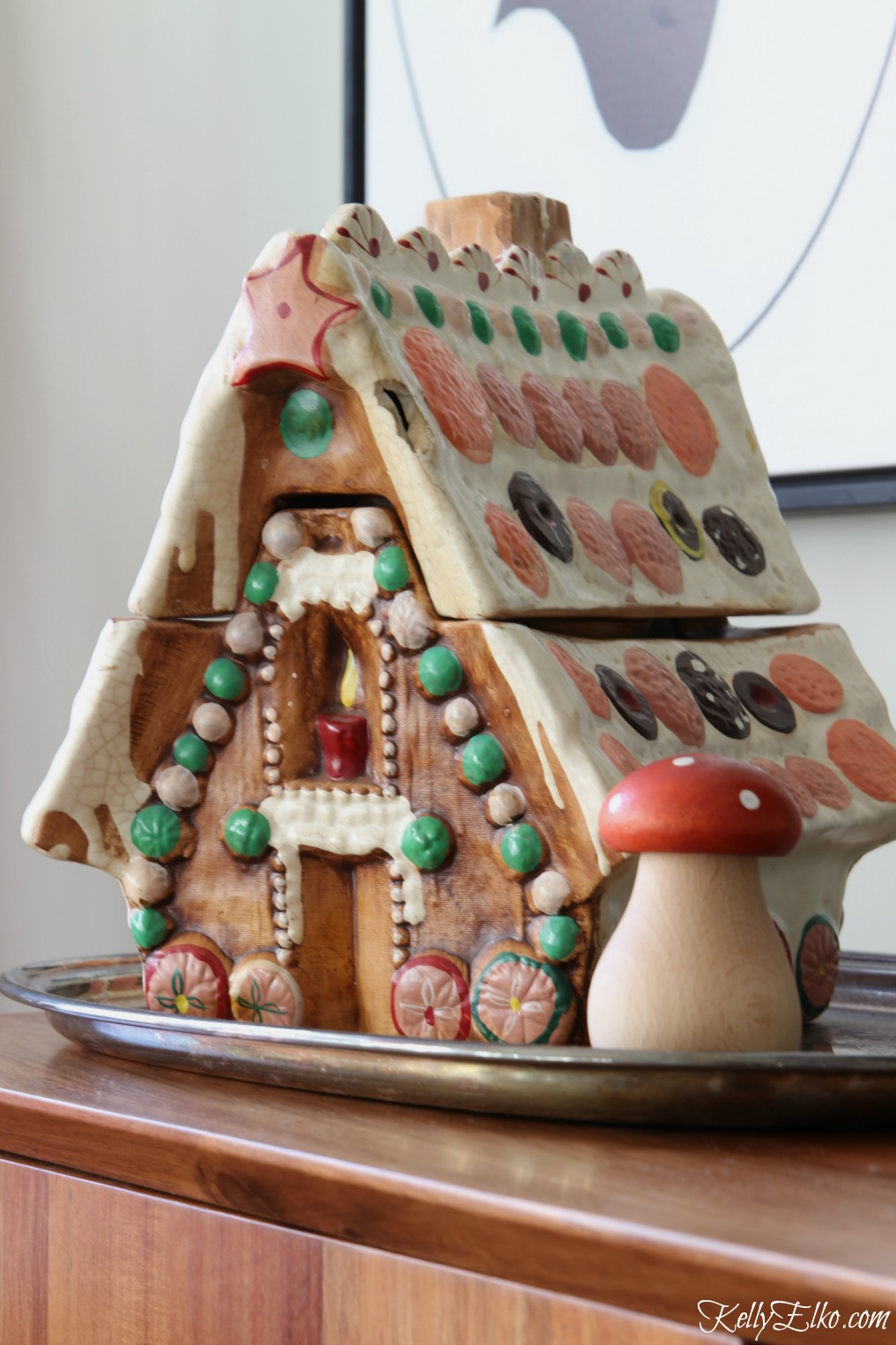 Vintage gingerbread cookie jar kellyelko.com