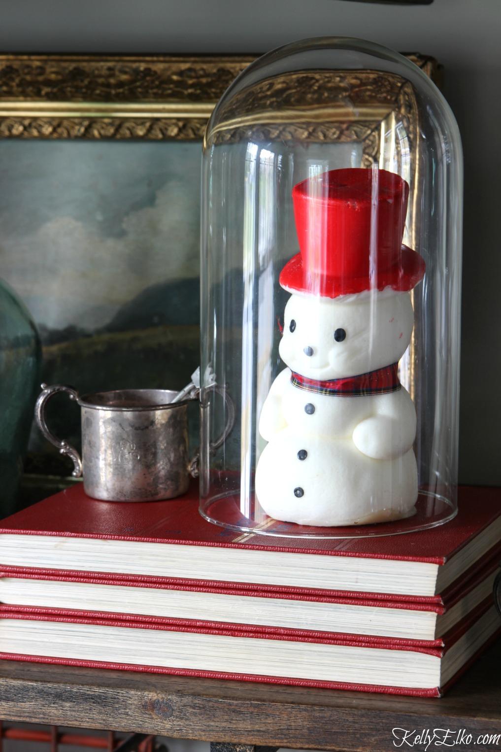 Vintage snowman candle kellyelko.com
