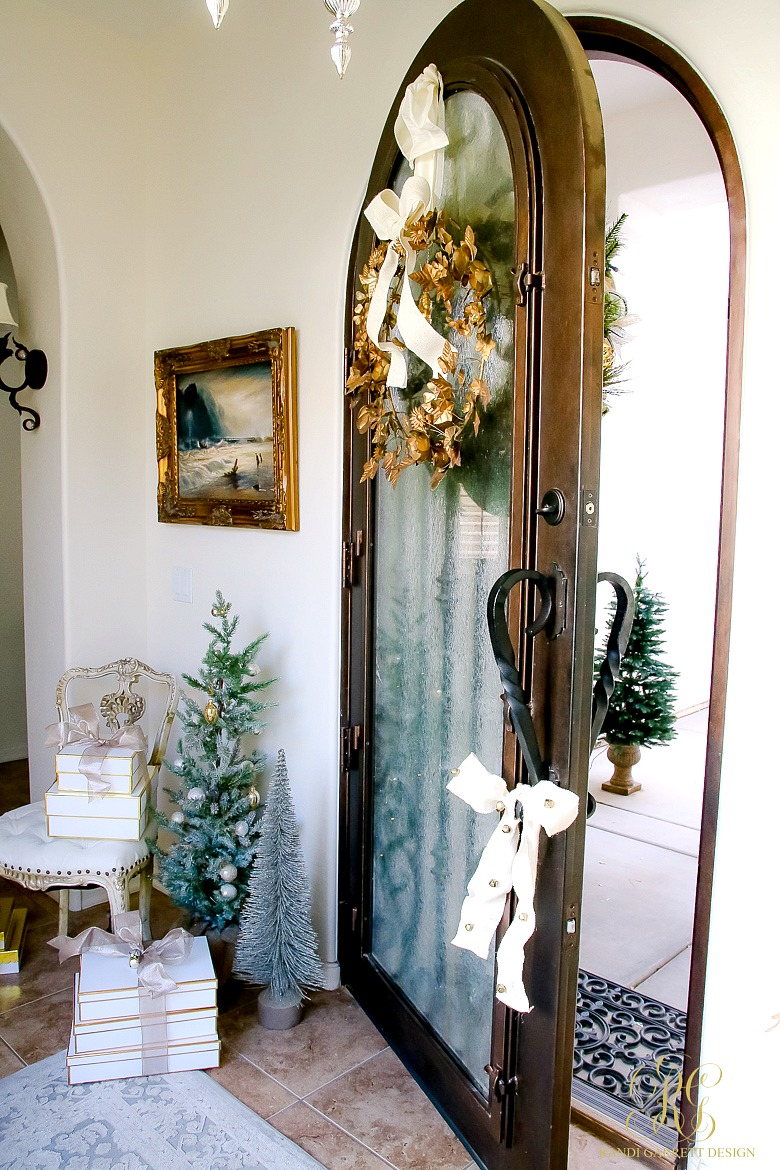 Beautiful glass arched front door
