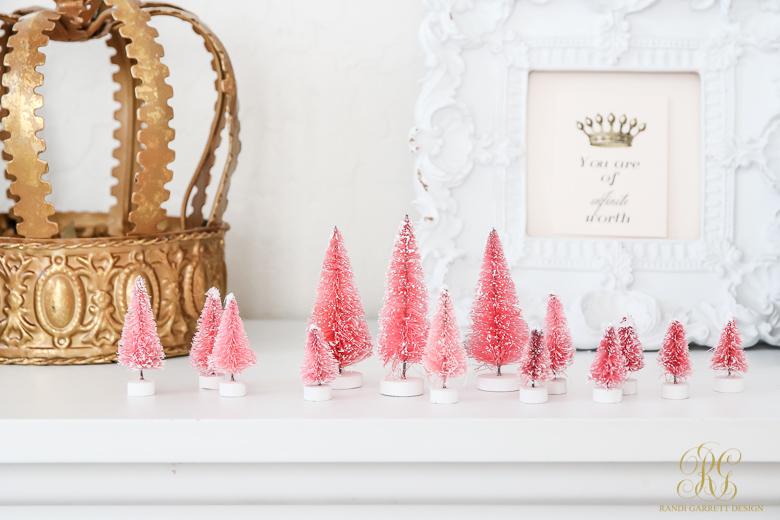 Pink bottle brush trees