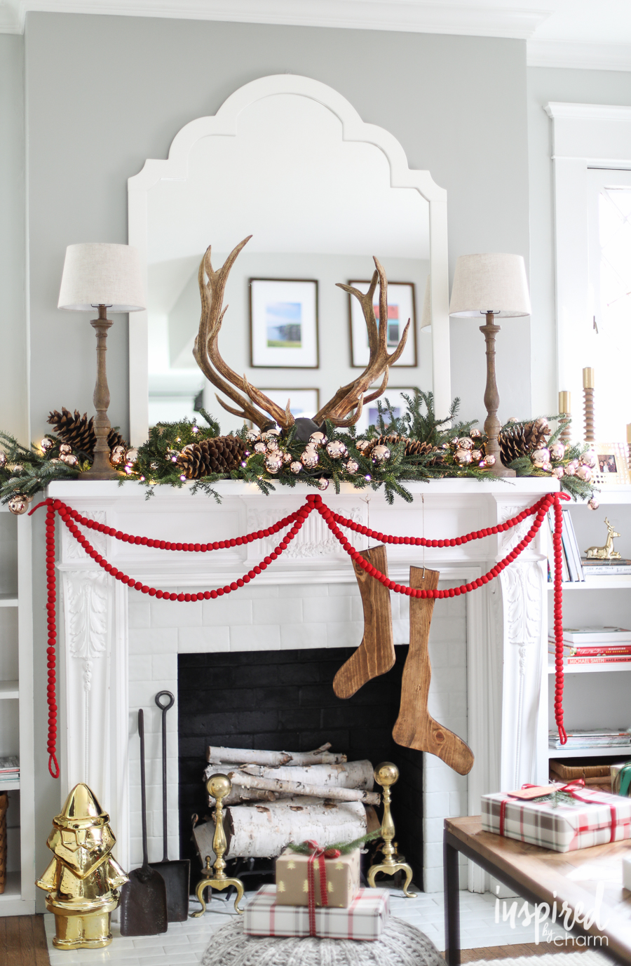 Best christmas home tours kelly elko - Modern christmas mantel ideas ...