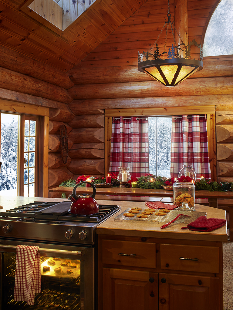 Log cabin kitchen kellyelko.com