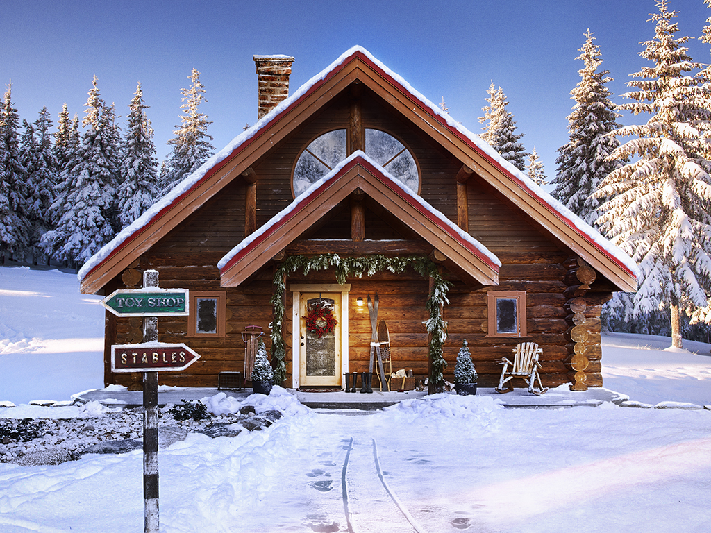 Santa's Log Cabin - take the tour! kellyelko.com