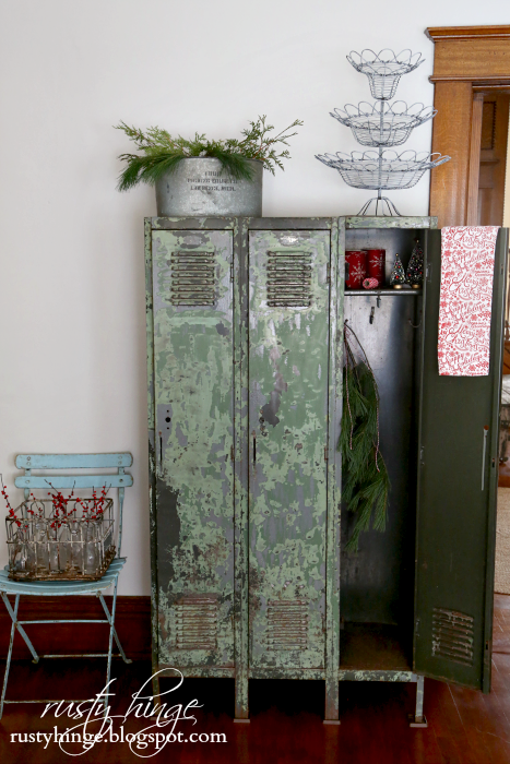 Vintage locker at Christmas