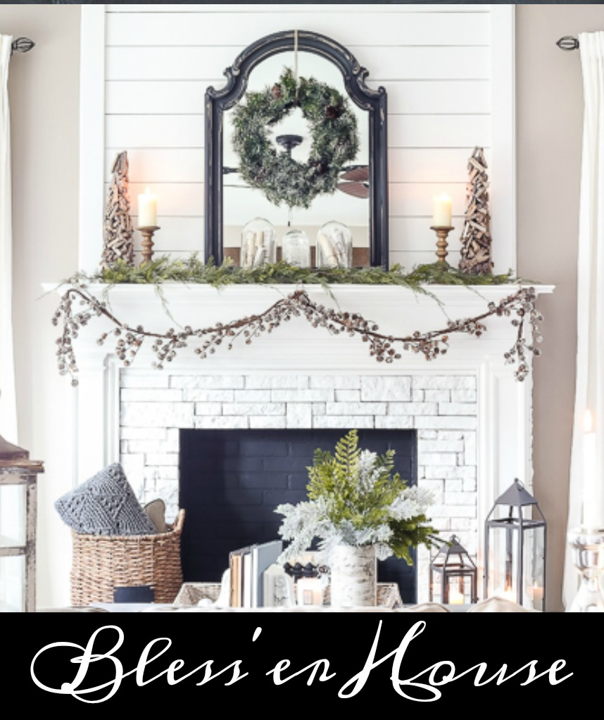 Blesser House Winter Mantel