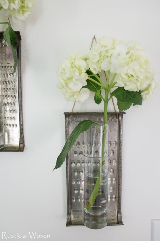 Turn old graters into fun vases