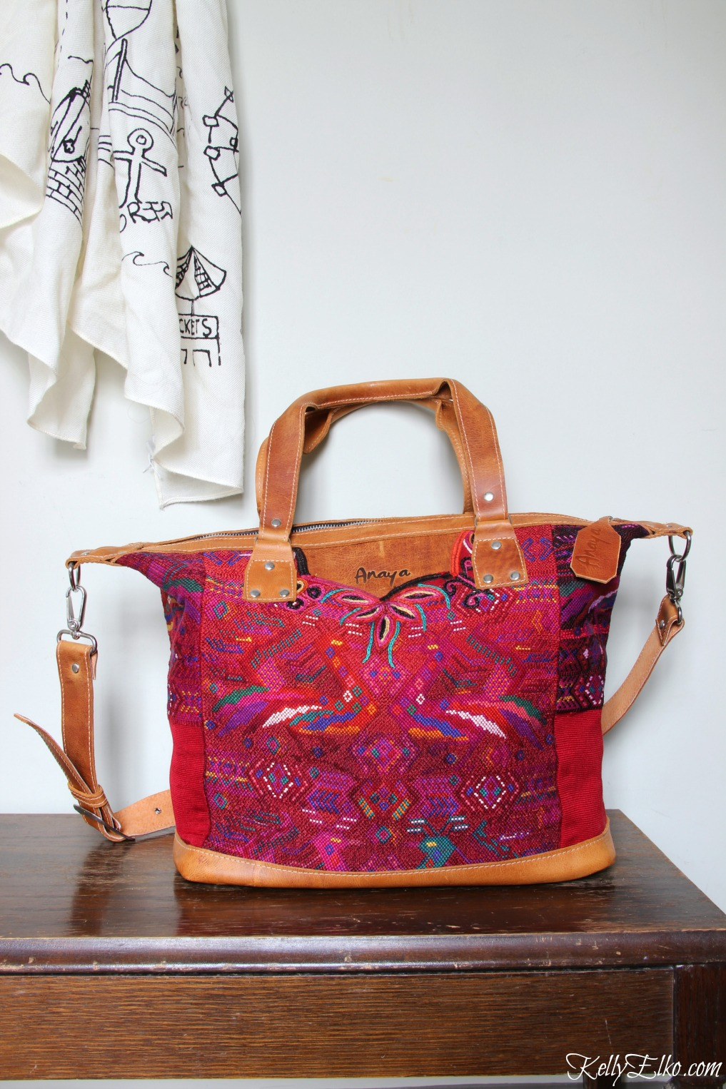 Anaya bags are made from vintage huipil fabric and are stunning! kellyelko.com