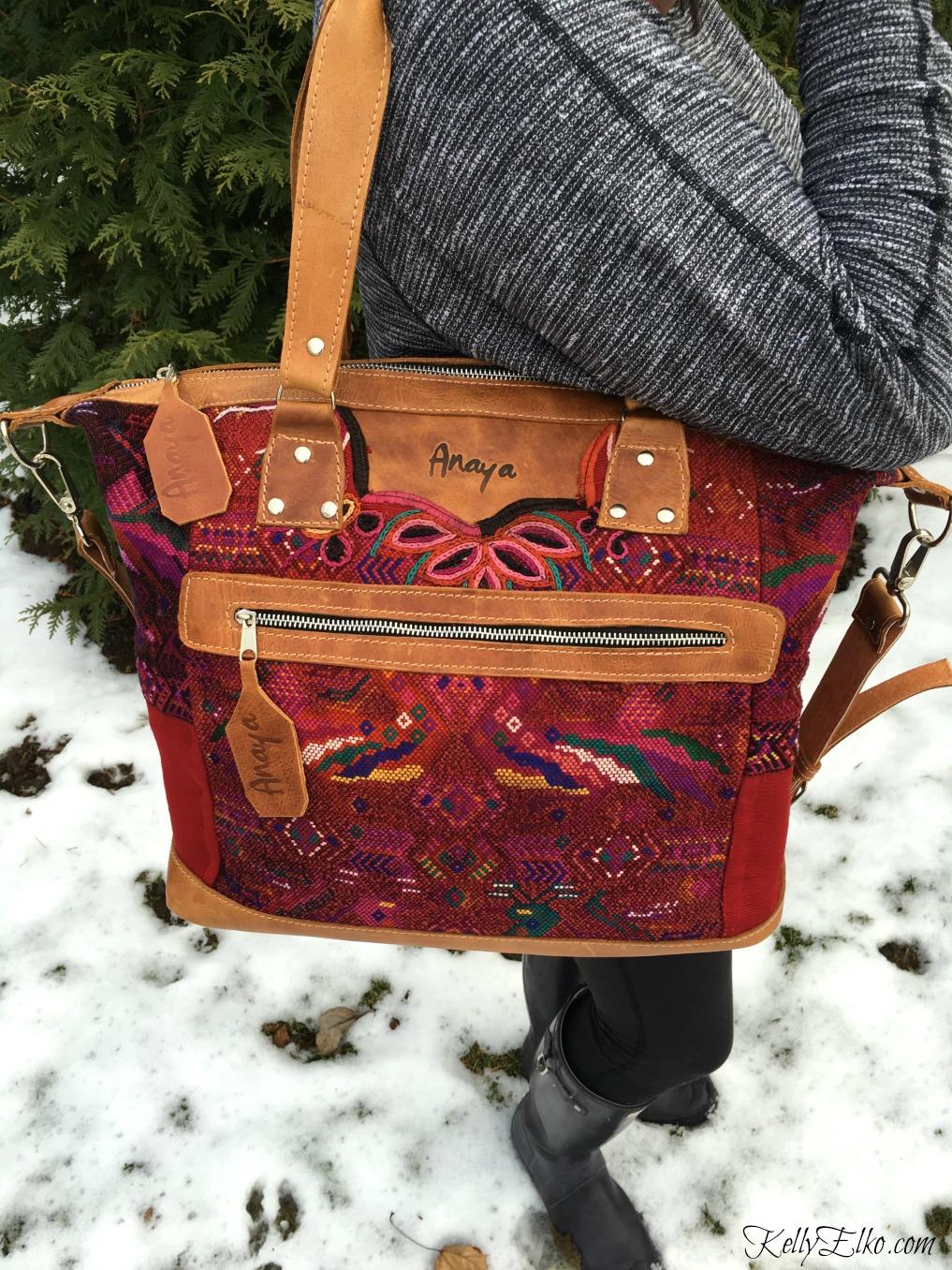 Anaya Camera Bag with Vintage Fabric - makes the perfect purse kellyelko.com