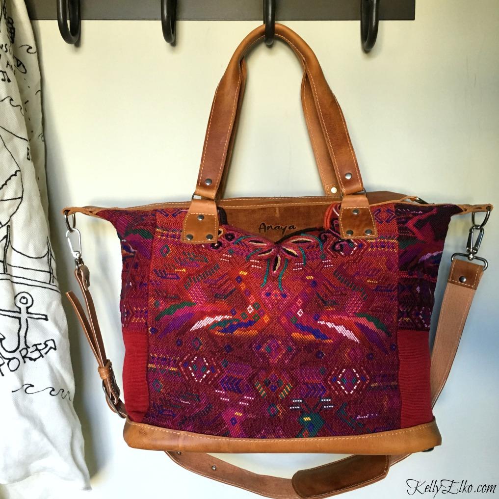 Beautiful vintage fabric Anaya camera bag kellyelko.com