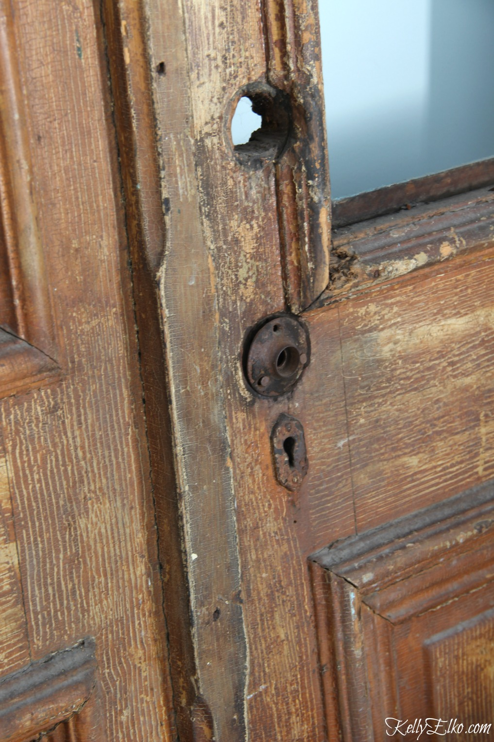 Time worn character on antique wood doors kellyelko.com
