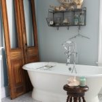 Antique Brownstone Doors in the Bathroom