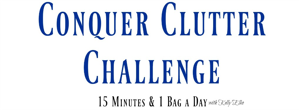 Conquer Clutter Challenge - join a community to share and get tips and inspiration kellyelko.com