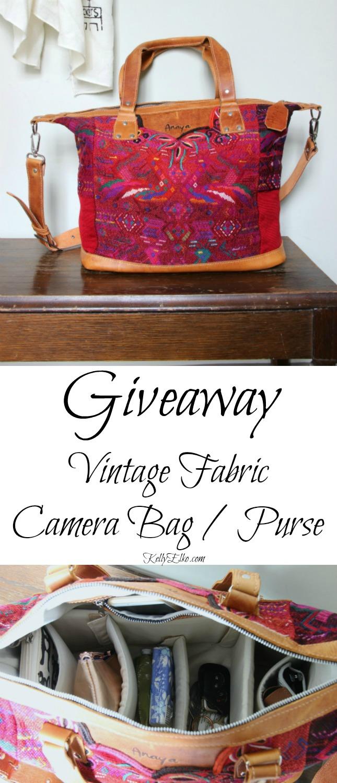 Win an Anaya bag made with vintage fabric kellyelko.com