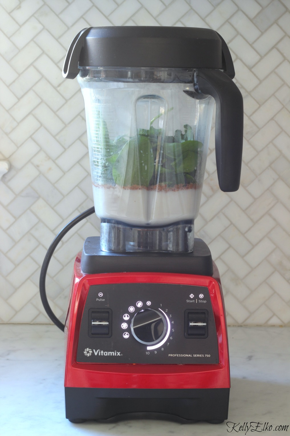 I love my Vitamix for making the smoothest lump free smoothies kellyelko.com