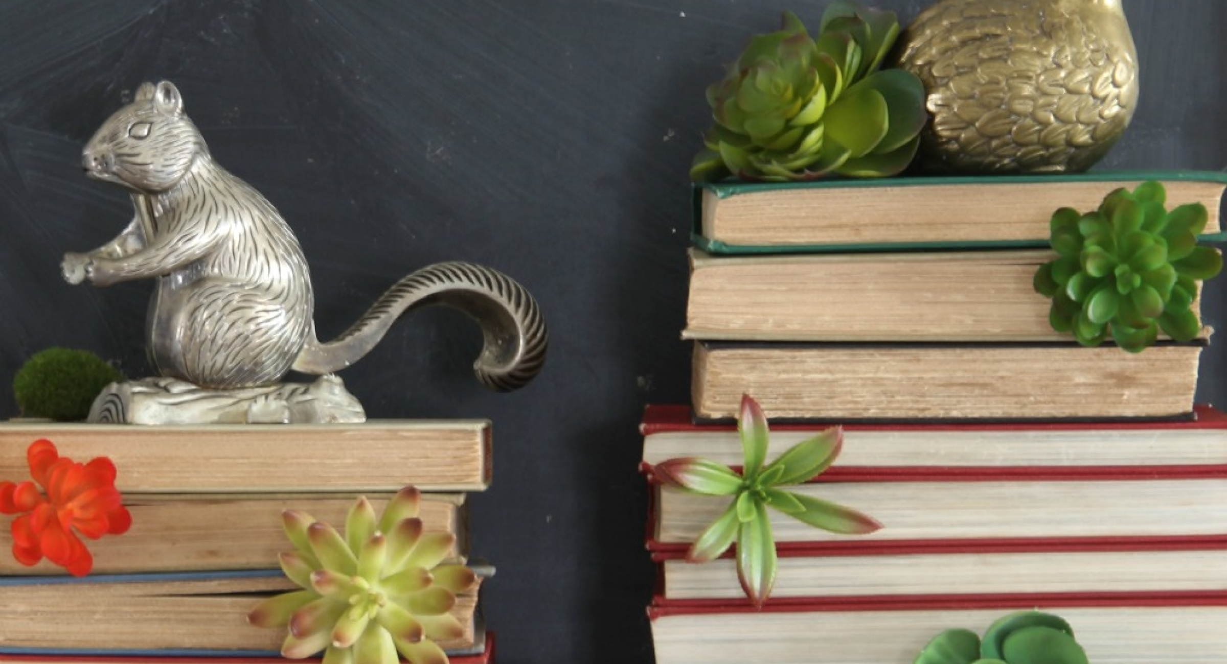 winter-mantel-books-succulents-brass